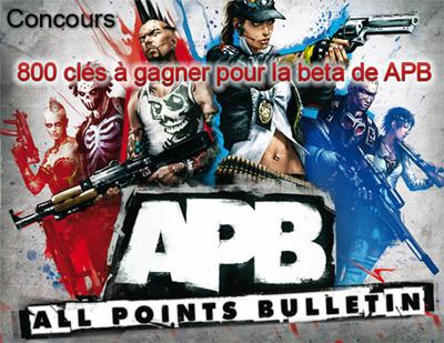 Gagnez votre clé pour la beta d'APB !